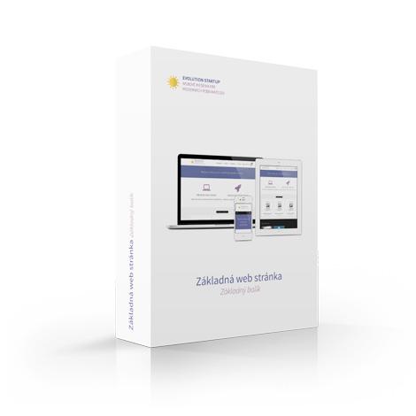 Balík: Základná web stránka